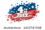 4th of july poster template.usa ... | Shutterstock .eps vector #1423767338