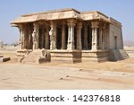 a temple complex in hampi ... | Shutterstock . vector #142376818