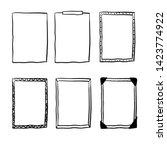 handdrawn doodle frame...   Shutterstock .eps vector #1423774922