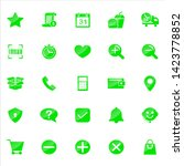 set of ecommerce icons with...