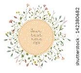 floral vector card | Shutterstock .eps vector #142380682
