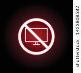 forbidden television icon in...