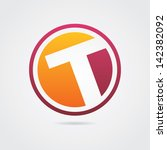 Abstract Letter T Icon