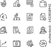 accounting management line icon ... | Shutterstock .eps vector #1423838942