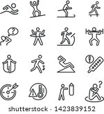 healthy lifestyle line icon set.... | Shutterstock .eps vector #1423839152