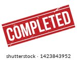 completed rubber stamp. red... | Shutterstock .eps vector #1423843952