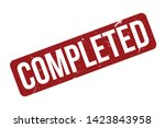 completed rubber stamp. red... | Shutterstock .eps vector #1423843958