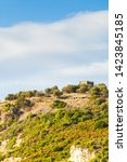 Greek Idyllic Hills With Small...
