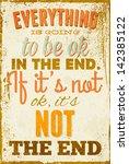 vintage typography vector... | Shutterstock .eps vector #142385122