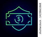 security payment vector logo... | Shutterstock .eps vector #1423861868