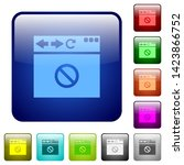 browser disabled icons in... | Shutterstock .eps vector #1423866752