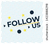 follow us button on white... | Shutterstock .eps vector #1423888298