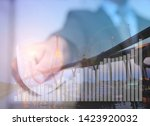 graph report finance and... | Shutterstock . vector #1423920032