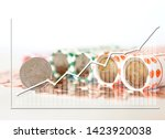 graph report finance and... | Shutterstock . vector #1423920038