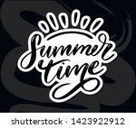 summer time vector text... | Shutterstock .eps vector #1423922912