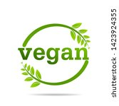 vegan product icon design...   Shutterstock .eps vector #1423924355