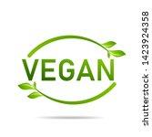 vegan product icon design...   Shutterstock .eps vector #1423924358