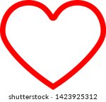 heart icon. this sign can be... | Shutterstock .eps vector #1423925312