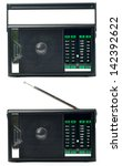 transistor radio isolated on...   Shutterstock . vector #142392622