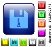 compressed file icons in... | Shutterstock .eps vector #1423932575