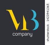 mb logo design. monogram logo....   Shutterstock .eps vector #1423941365