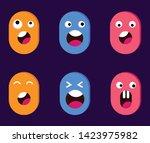 cute flat character... | Shutterstock .eps vector #1423975982