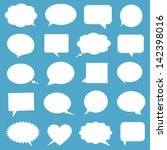 blank empty white speech bubbles | Shutterstock .eps vector #142398016