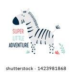 hand drawing zebra vector... | Shutterstock .eps vector #1423981868