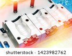 a closeup of an aluminum mold...   Shutterstock . vector #1423982762