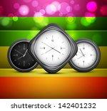 shiny clock colorful rainbow...