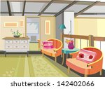 illustrations interior with two ... | Shutterstock . vector #142402066