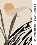 trendy abstract shapes art.... | Shutterstock .eps vector #1424040665