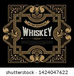 whiskey label for packing.... | Shutterstock .eps vector #1424047622