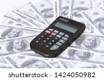 a few dollars and a calculator... | Shutterstock . vector #1424050982
