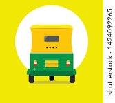 auto rickshaw front view  ...   Shutterstock .eps vector #1424092265
