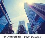 beautiful skyscraper with... | Shutterstock . vector #1424101388