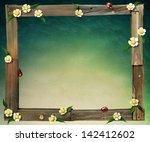 Frame  Old Boards Flower...