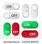 on off icon. set of switch... | Shutterstock .eps vector #1424130092