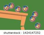 concept of the international... | Shutterstock .eps vector #1424147252