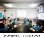 education concept  blurred... | Shutterstock . vector #1424152925