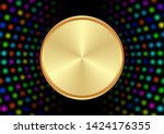 colorful dots around round... | Shutterstock .eps vector #1424176355