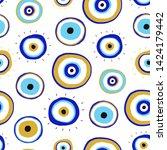 evil eyes. set of hand drawn...   Shutterstock .eps vector #1424179442