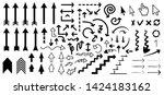 different  arrow arrows hand... | Shutterstock .eps vector #1424183162