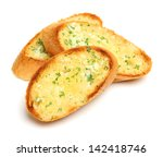 garlic and herb bread slices   Shutterstock . vector #142418746