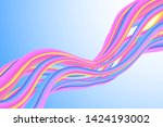 wavy liquid colorful background ...   Shutterstock .eps vector #1424193002