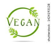 vegan product icon design...   Shutterstock .eps vector #1424193128