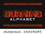 burning alphabet font. fire... | Shutterstock .eps vector #1424196395