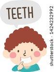 illustration of a kid boy... | Shutterstock .eps vector #1424232992