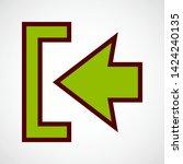 log in symbol. vector color icon