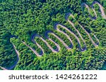 Aerial View Of A Winding...